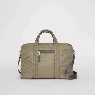 Burberry EKD Aviator Nylon and Leather Briefcase