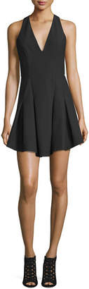 Elizabeth and James Sabine Sleeveless Crepe Fit-and-Flare Dress, Black