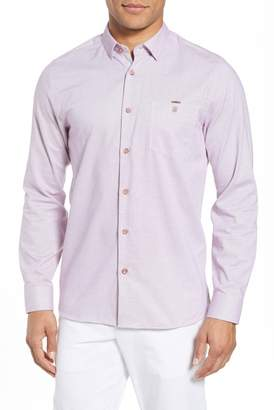 Ted Baker Slim Fit Textured Sport Shirt