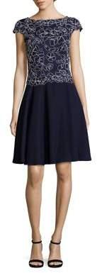 Tadashi Shoji Embroidered Flare Dress