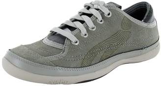 Cushe Womens 'Blvd' Leather Sneaker Shoe, Light Grey/Silver, US 6 EU 37