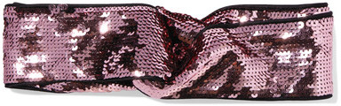 GucciGucci - Twisted Squined Tulle And Silk-satin Headband - Pink