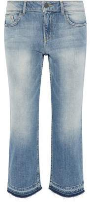 Alice + Olivia (アリス オリビア) - Alice + Olivia Tasha Cropped Faded Mid-Rise Straight-Leg Jeans