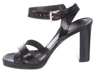 Gucci Patent Leather Ankle Strap Sandals
