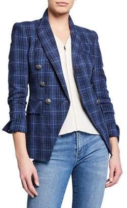 Veronica Beard Miller Plaid Wool-Blend Dickey Jacket