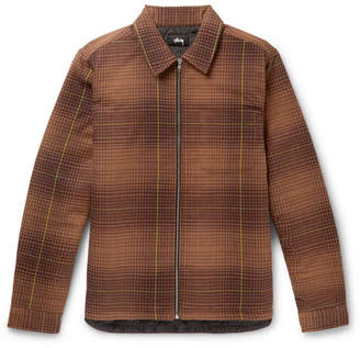 Stussy Checked Cotton-Flannel Shirt Jacket