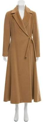 Max Mara Wool-Cashmere Long Coat Tan Wool-Cashmere Long Coat