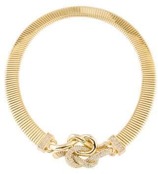 Rachel Zoe Crystal Love Me Knot Collar Necklace