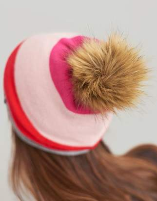 Joules Light Grey Marl Flurrywell Pop-A-Pom Hat Size One Size
