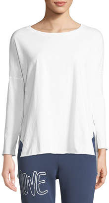 Frank And Eileen Relaxed Long-Sleeve High-Low Cotton Tee