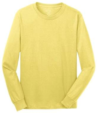 Port & Company Men's Rib Knit Cuffs Long Sleeve T-Shirt