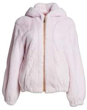 The Fur Salon Mink Fur Hooded Bomber Jacket