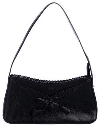 Anya Hindmarch Perforated Leather Shoulder Bag Black Perforated Leather Shoulder Bag