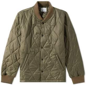 Save Khaki Quilted Nylon Warm Up Bomber Jacket