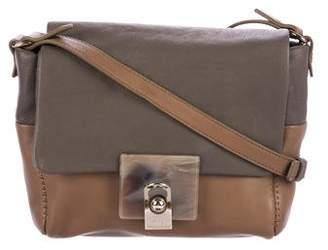 Lanvin Bicolor Leather Flap Bag
