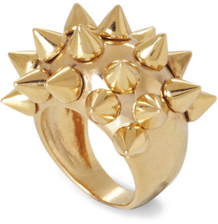 BCBGMAXAZRIA Goldtone Spike Ring