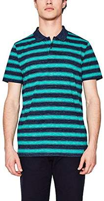 Esprit Men's 067EE2K015 Polo Shirt, Blue (Teal 2 456)