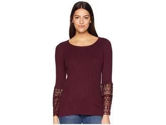 Tribal Crochet Bell Sleeve Sweater