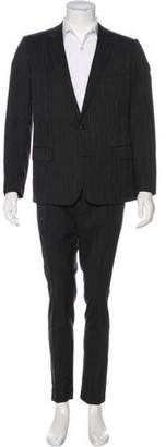 Christian Dior Striped Wool Suit