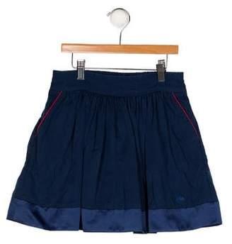 Little Marc Jacobs Girls' Satin-Trimmed A-Line Skirt