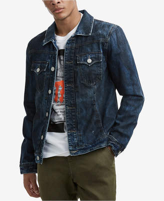 True Religion Men's Midnight Storm Denim Jacket