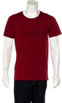 Balmain 2015 Automne-Hiver Logo T-Shirt