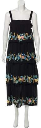 Vilshenko Silk Embroidered Dress