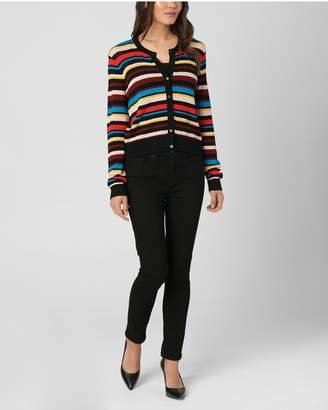 Juicy Couture Pointelle Stripe Henley Sweater 8da7d1c122