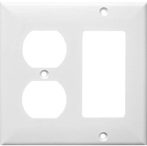Morris Products 2 Gang 1 GFCI 1 Duplex Lexan Wall Plates in White
