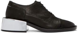 Maison Margiela Black Metallic Heel Oxfords