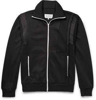 Maison Margiela Satin-Panelled Woven Track Jacket