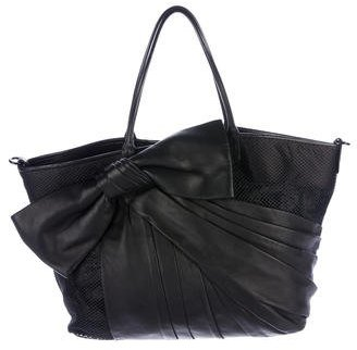 Valentino Bow-Accented Shopping Tote