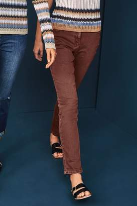 Next Womens Chocolate Relaxed Skinny Jeans - Brown