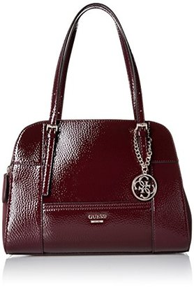 GUESS Huntley Cali Satchel Bordeaux $118 thestylecure.com