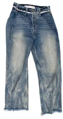 AYR High-Rise Straight-Leg Jeans