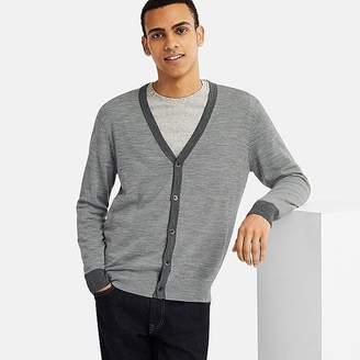 Uniqlo Men's Extra Fine Merino V-Neck Long-sleeve Cardigan