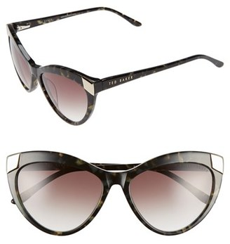 Women's Ted Baker London 57Mm Cat Eye Sunglasses - Olive Tortoise $149 thestylecure.com