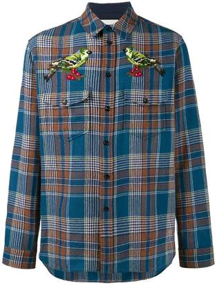 Gucci needlepoint plaid shirt