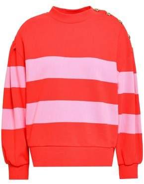 Claudie Pierlot Striped French Cotton-terry Sweatshirt