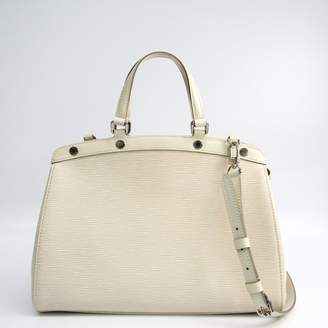 Hermes Blue and White Canvas Cannes MM Tote (SHA16580)