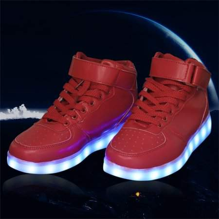 MORE Fashionable Women Lady Breathable LED Light Lace Up Luminous Shoes Sneaker