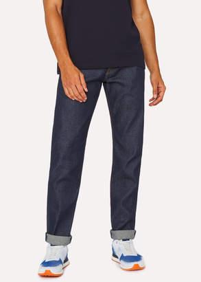 Paul Smith Men's Tapered-Fit 12.5oz 'Rigid Western Twill' Indigo Denim Jeans