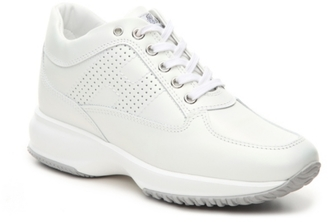 Final Sale - Hogan Perforated Leather Sneaker $425 thestylecure.com