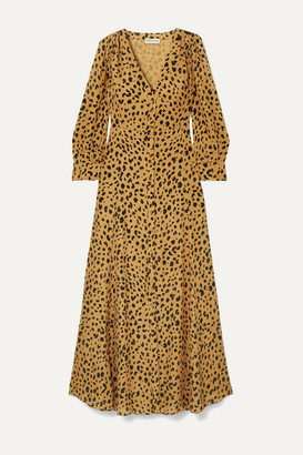 Nicholas The Front Leopard-print Silk-crepe Maxi Dress - Leopard print