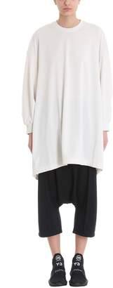 Y-3 Natural White Un-dyed Longline Sweatshirt