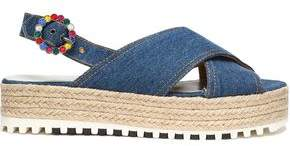 Marc Jacobs Denim Platform Espadrille Sandals