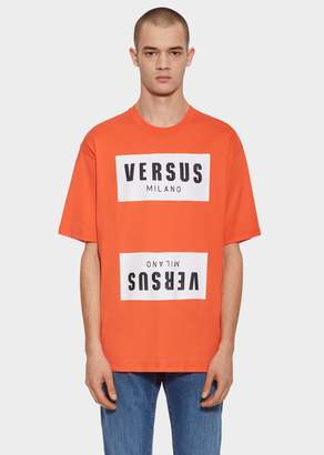 Versace Versus Mirror Logo Print T-Shirt