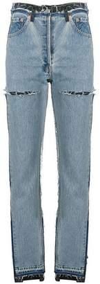Vetements Reworked straight-leg jeans