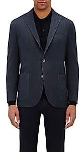Boglioli Men's Travel Herringbone-Weave Cotton Sportcoat - Navy