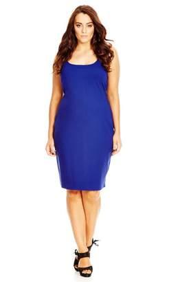 City Chic Cobalt Basic Body Con Dress